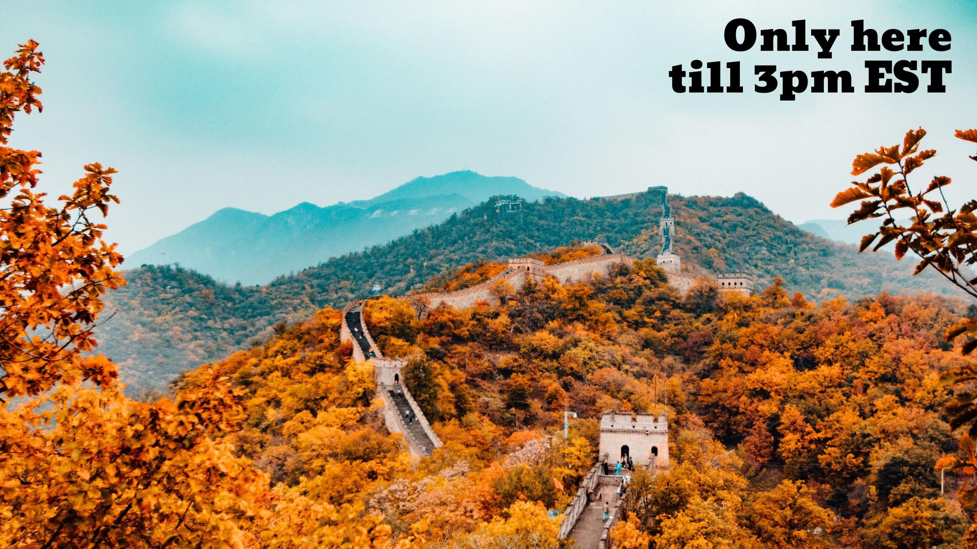 Autumn Landscape - Leaving Office Zoom Virtual Background