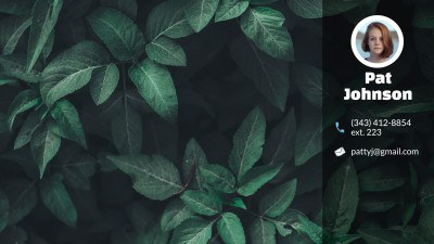 Green Leaves - Zoom Virtual Background