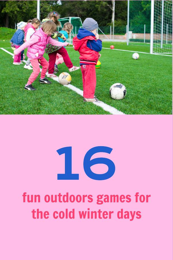 Kids outdoor games Pinterest post design