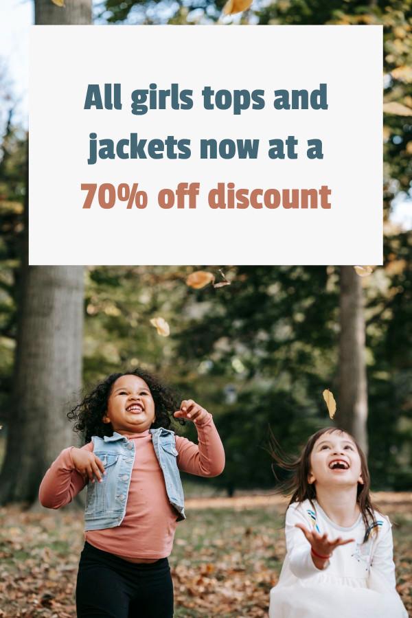 Children outwear shop template design