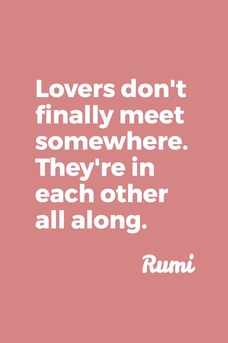 Lovers are in each other all along