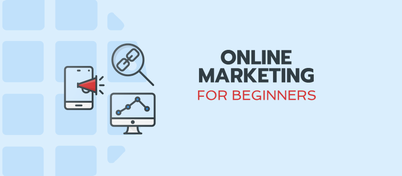Online Marketing for Beginners Facebook Cover Template