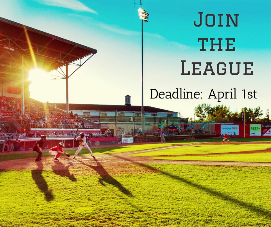 Join the league till April 1st