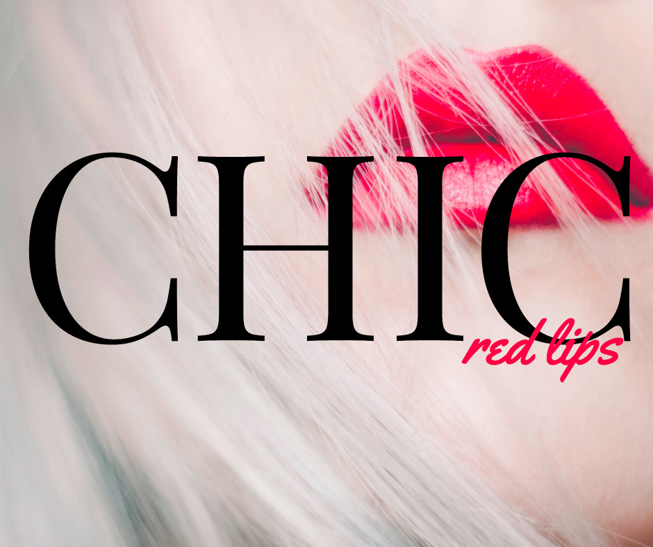 Chic with red lips