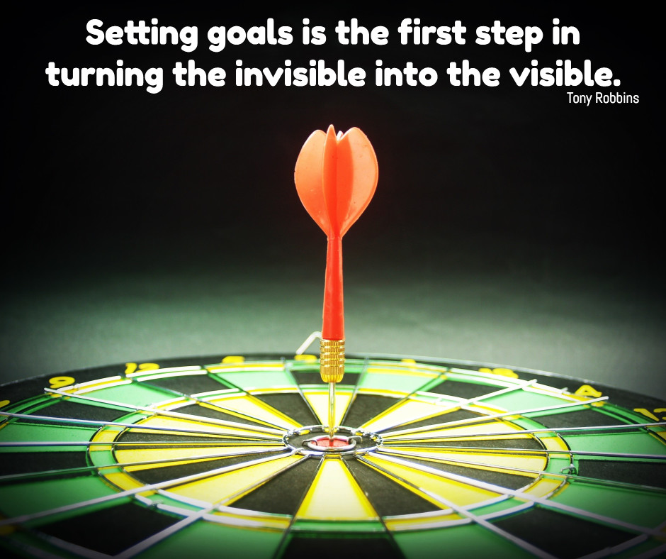 Goals are turning invisible into visible
