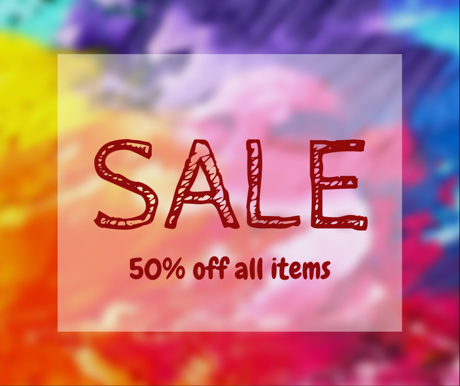 Sale - 50% off all items