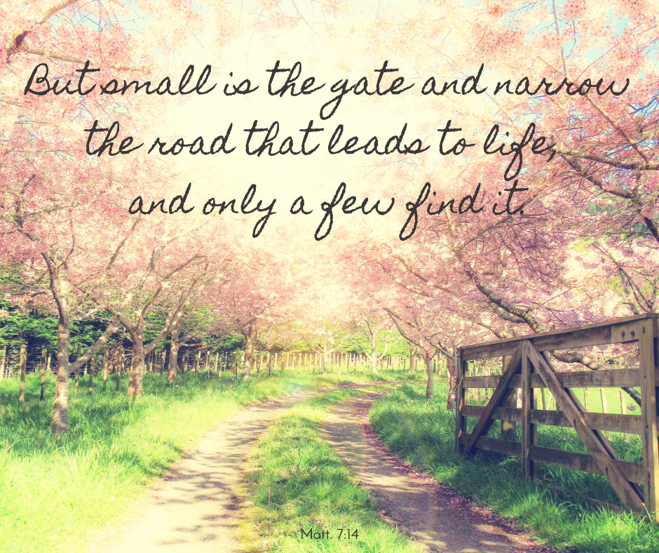 Small gate and narrow road that lead to life