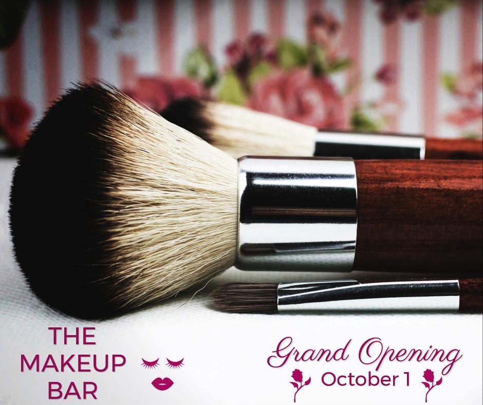 The makeup bar opening