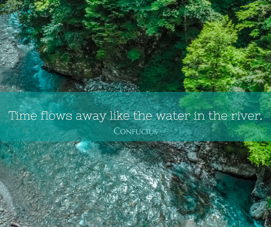 Time flows like water in the river