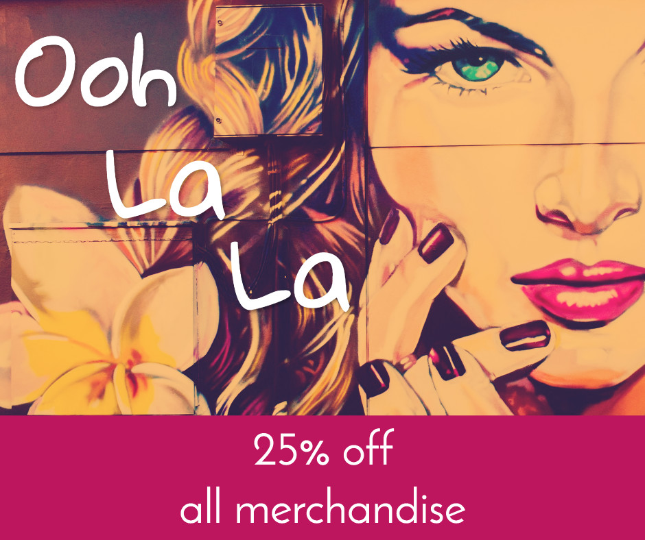 25% off all merchandise