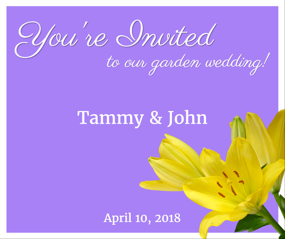 You're invited to our golden wedding