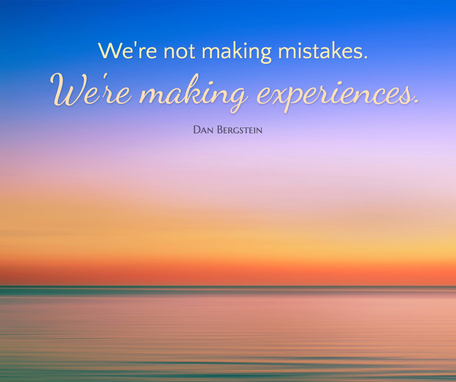We're not making mistakes