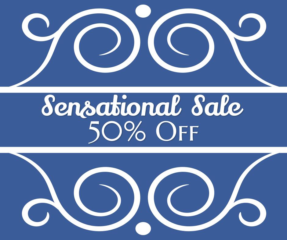 Sensational sale 50% off