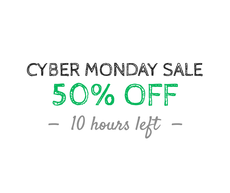 Cyber Monday sale - 50% off
