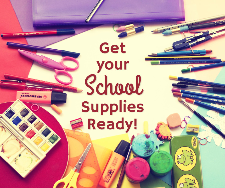 Get your school supplies ready