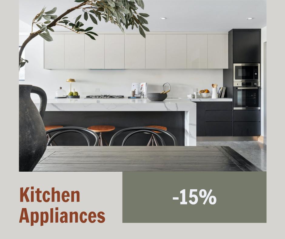 Kitchen appliances promotion template