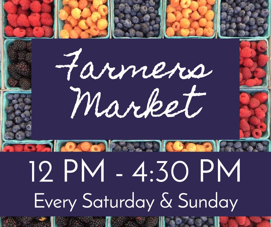 Farmers market - saturday & sunday