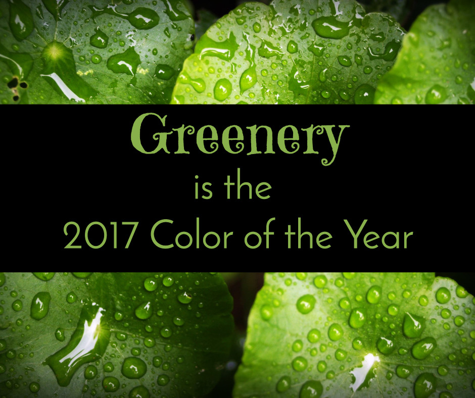 Greenery is color of the year