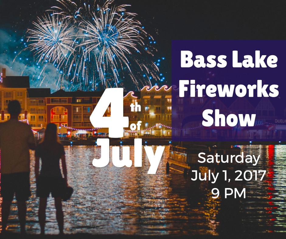 Bass lake fireworks show