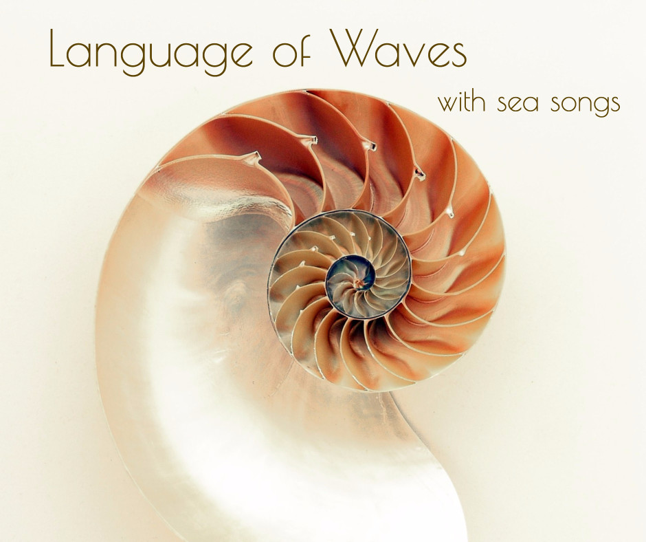 Language of waves with sea songs