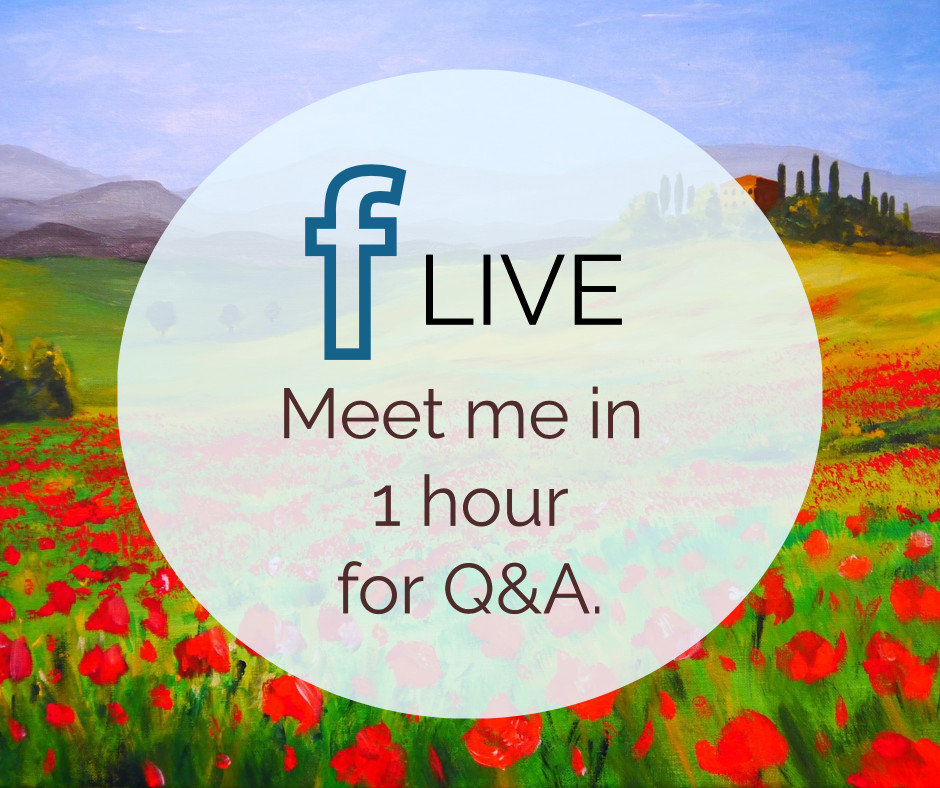 Meet me in 1 hour for Q&A