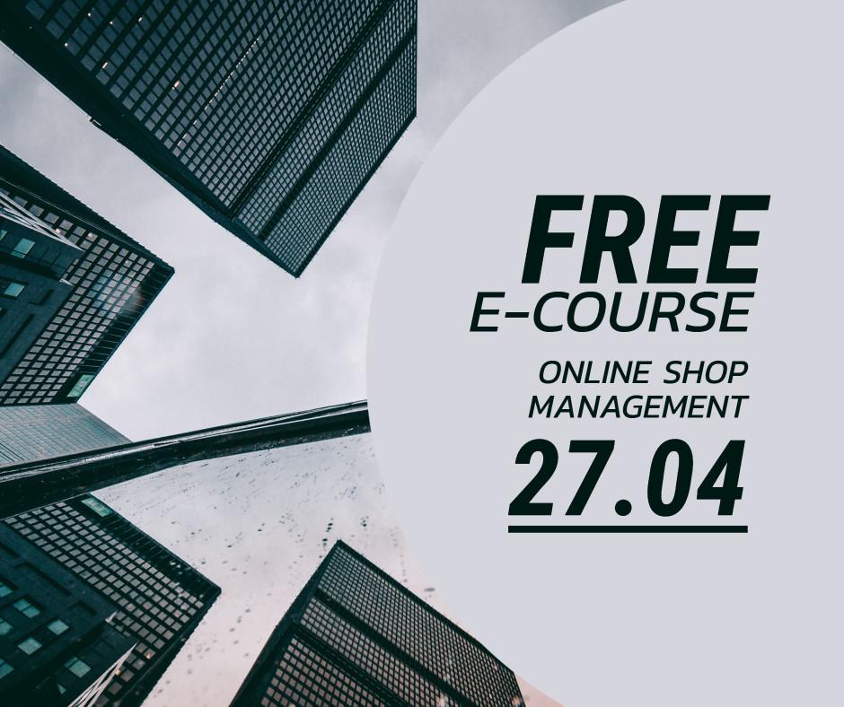 Free e-course - online shop management