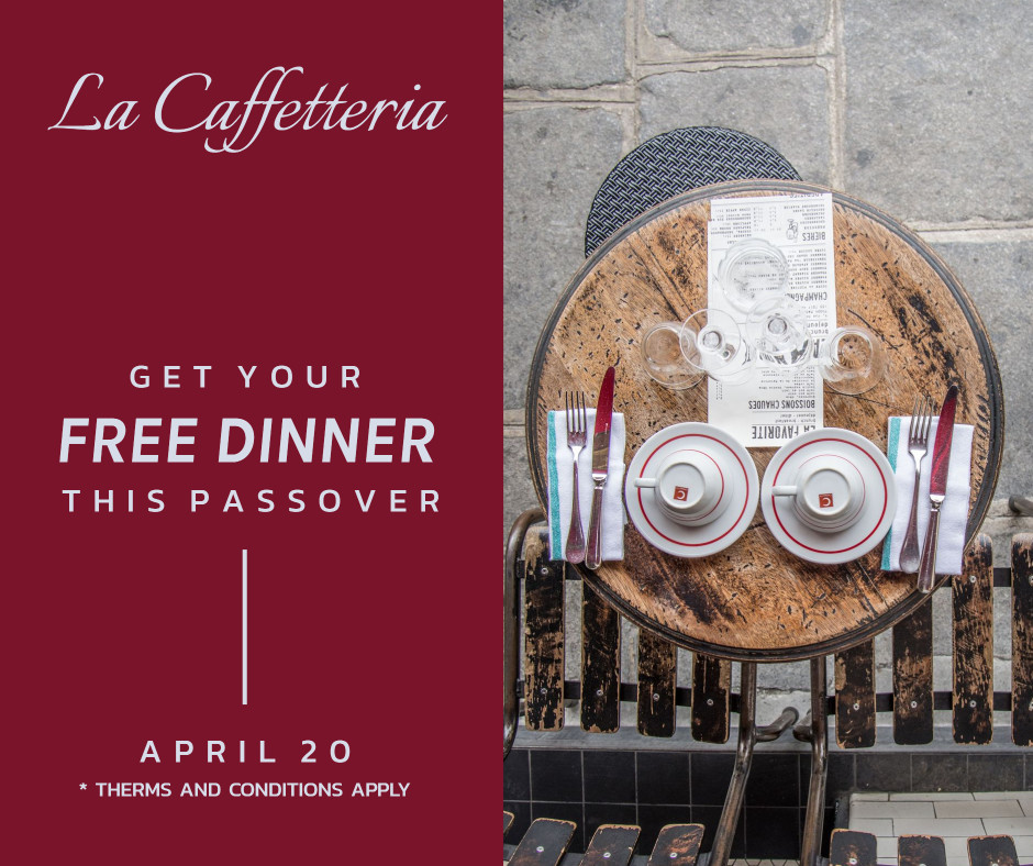Get your free dinner this passover