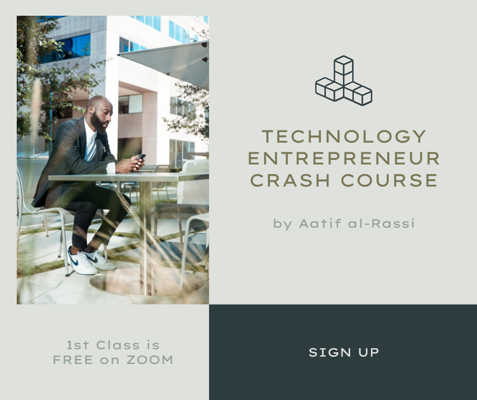Template for tech and entrepreneur courses