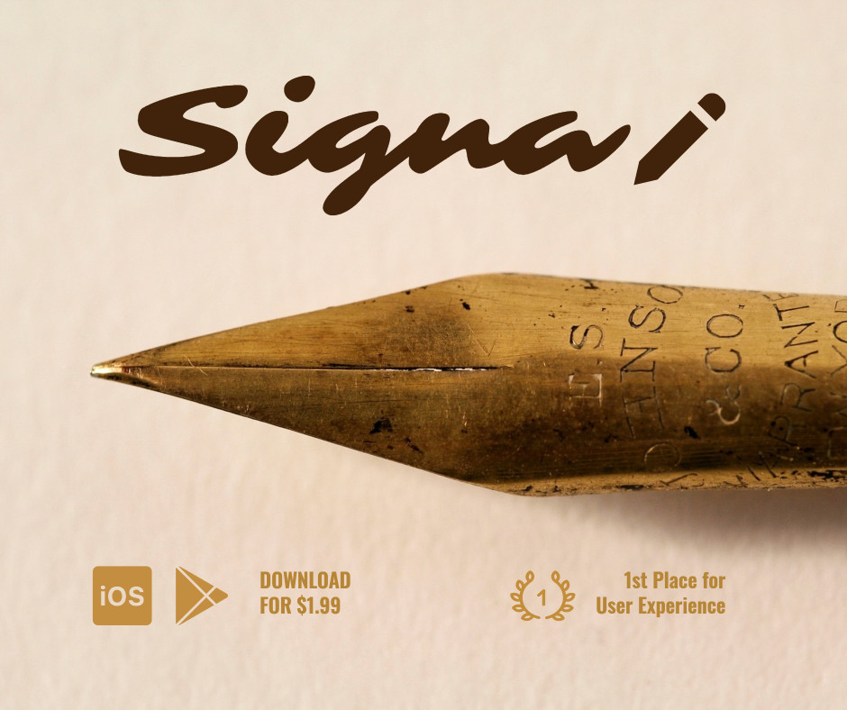 Signal - 1st place for User Experience