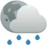 weather showers scattered night
