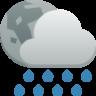 weather showers night